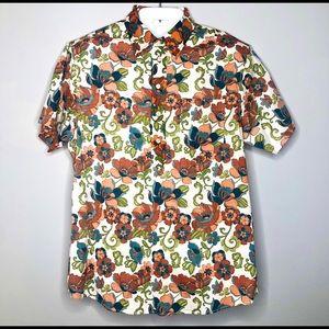FABRIC BY BLACKBURN Men's S/S Button Up Shirt
